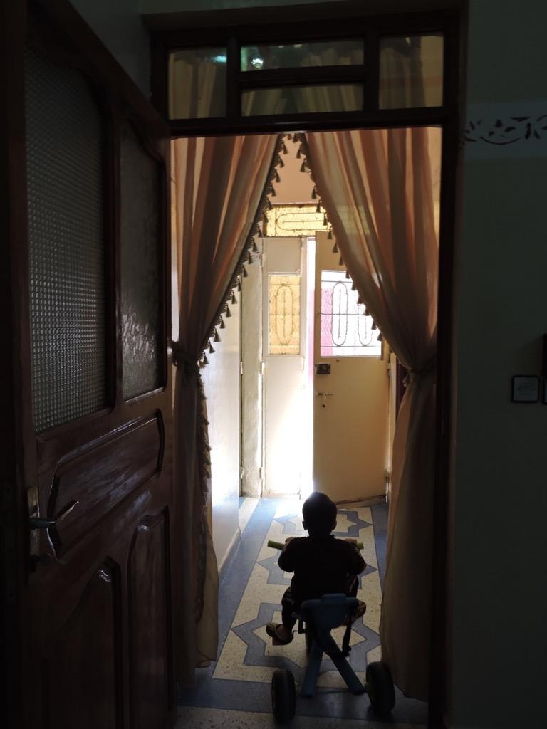 Foyer of a private home, Rissani, Morocco.