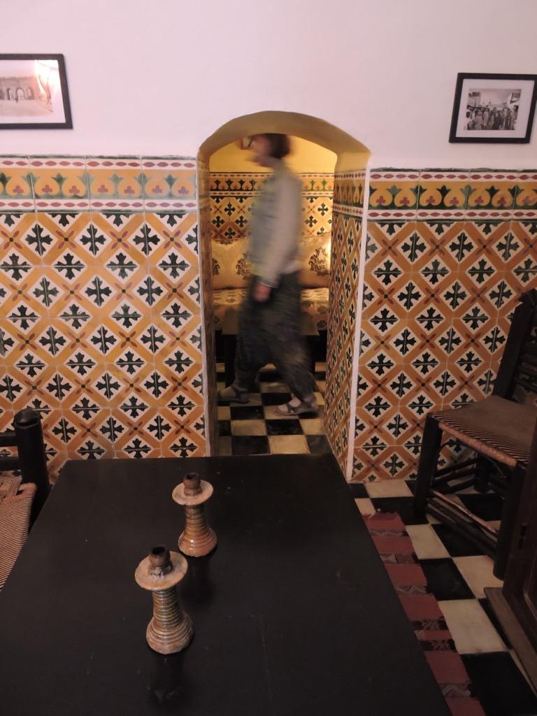 Lobby of Hotel Les Matins Bleus. Essaouira, Morocco.