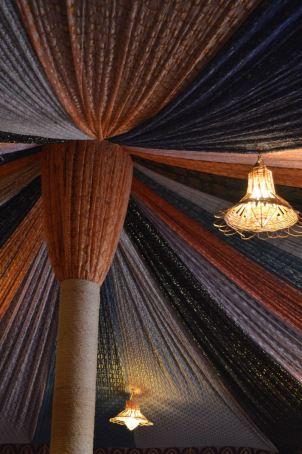Lanterns in a desert dining tent, Sahara.